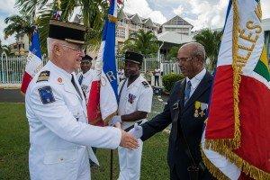 """Cérémonie de commémoration """"100 villes, 100 héros, 100 drapeaux"""" le 6 septembre à Pointe à Pitre en Guadeloupe"""