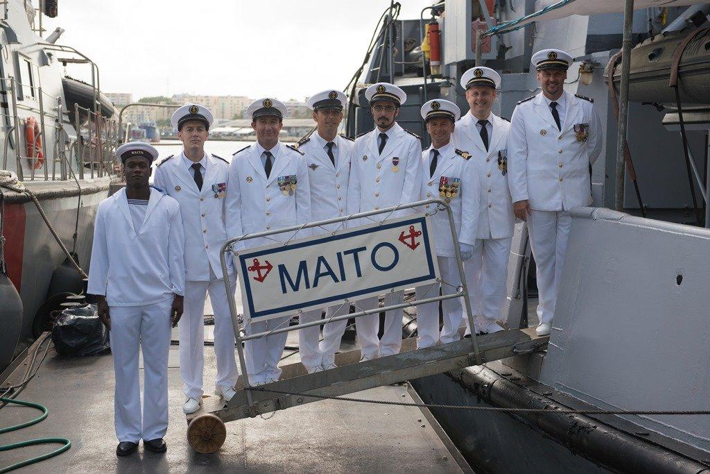 Passation de commandement du remorqueur Maïto le 24 juillet 2015