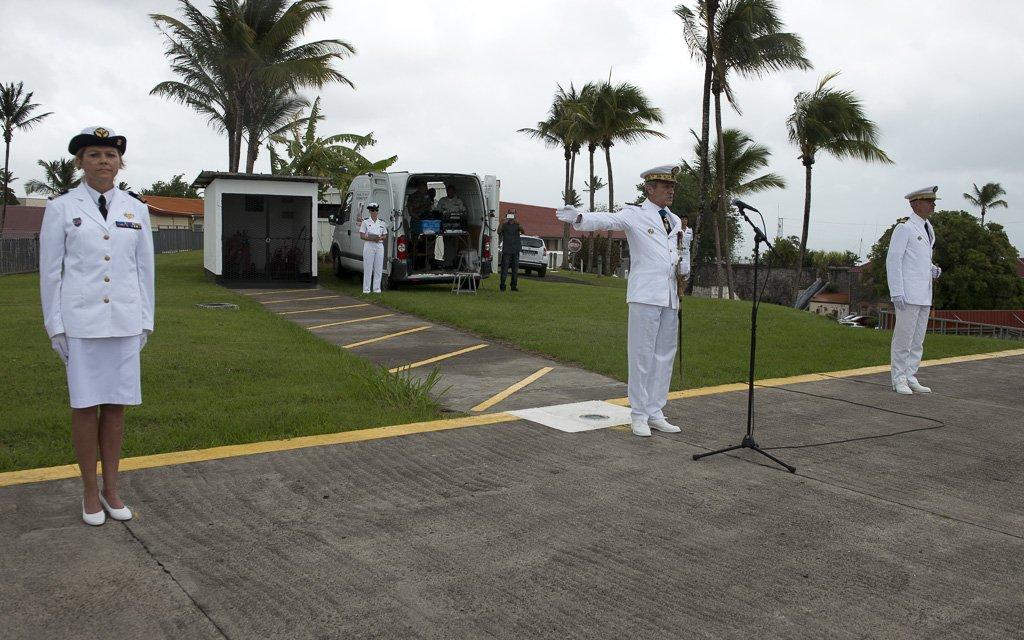 Passation de commandement du GSBdD des Antilles, le 16 juillet 2