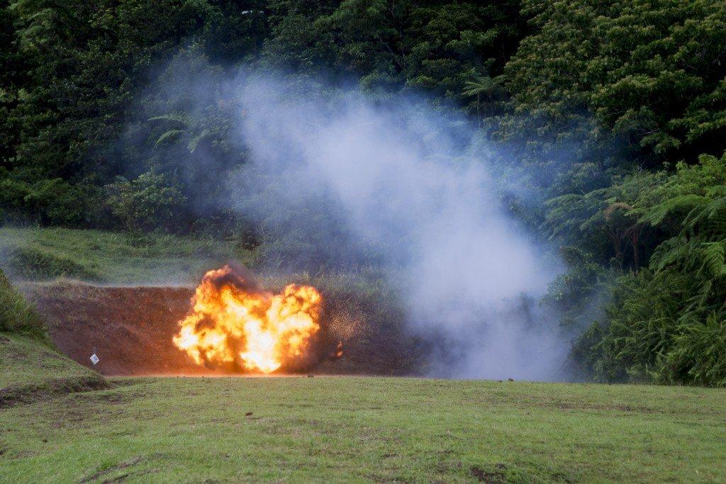 Déstruction de munition à Colson.